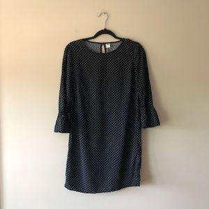 Old Navy black/white polka dot dress